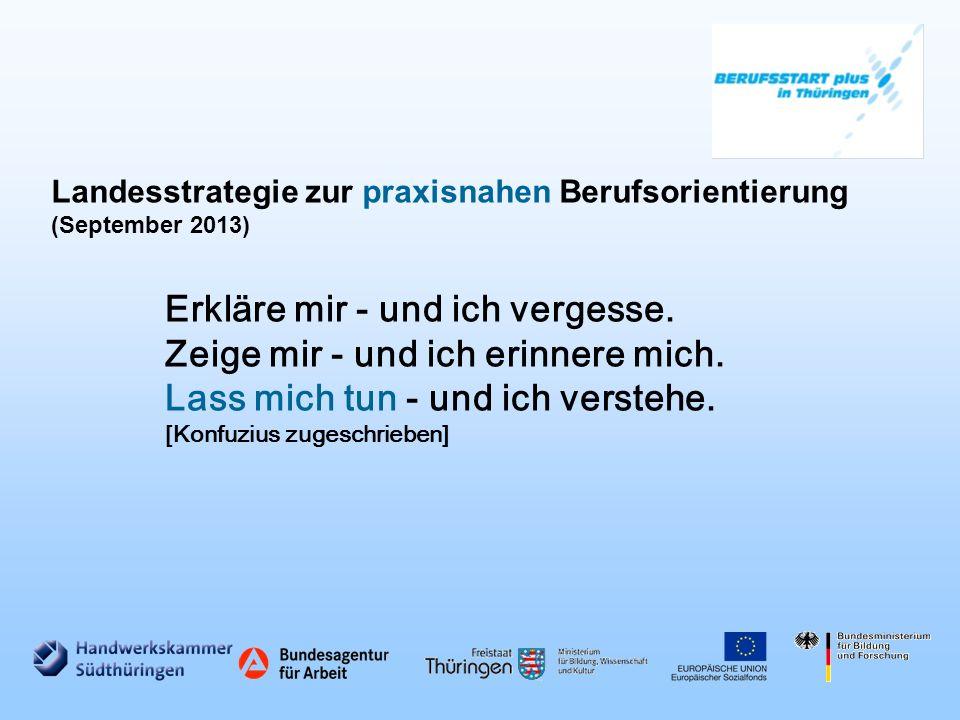 Landesstrategie zur praxisnahen Berufsorientierung (September 2013)
