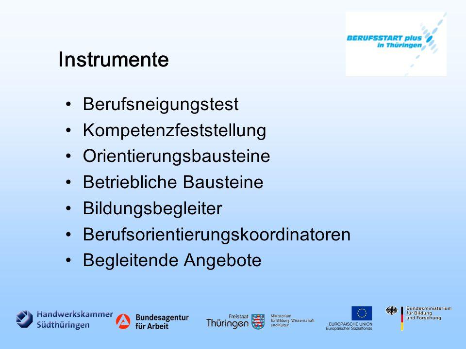 Instrumente Berufsneigungstest Kompetenzfeststellung