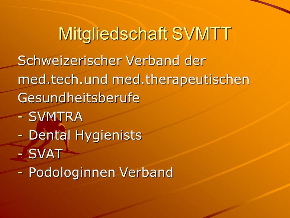 Mitgliedschaft SVMTT Schweizerischer Verband der