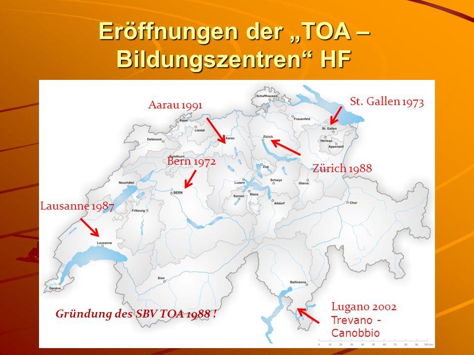 """Eröffnungen der """"TOA – Bildungszentren HF"""