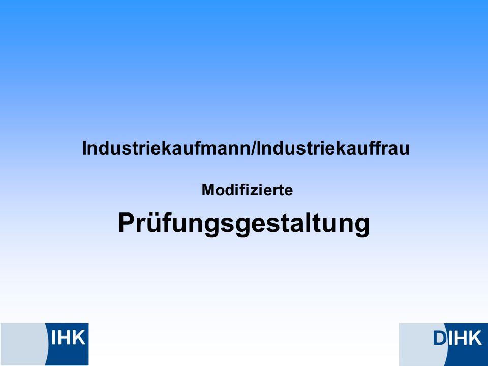 Industriekaufmann/Industriekauffrau