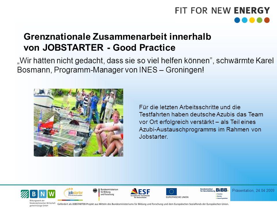 Grenznationale Zusammenarbeit innerhalb von JOBSTARTER - Good Practice