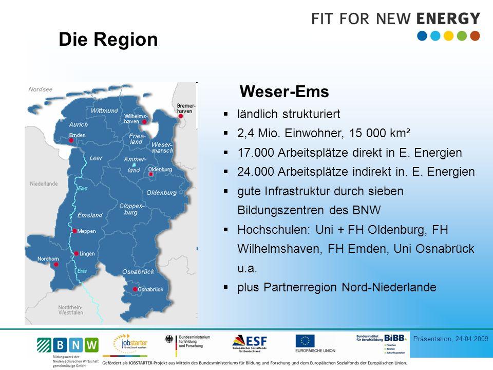 Die Region Weser-Ems ländlich strukturiert