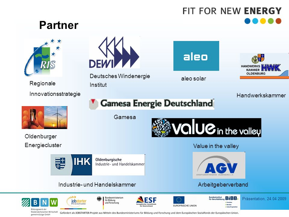 Partner Deutsches Windenergie Institut aleo solar
