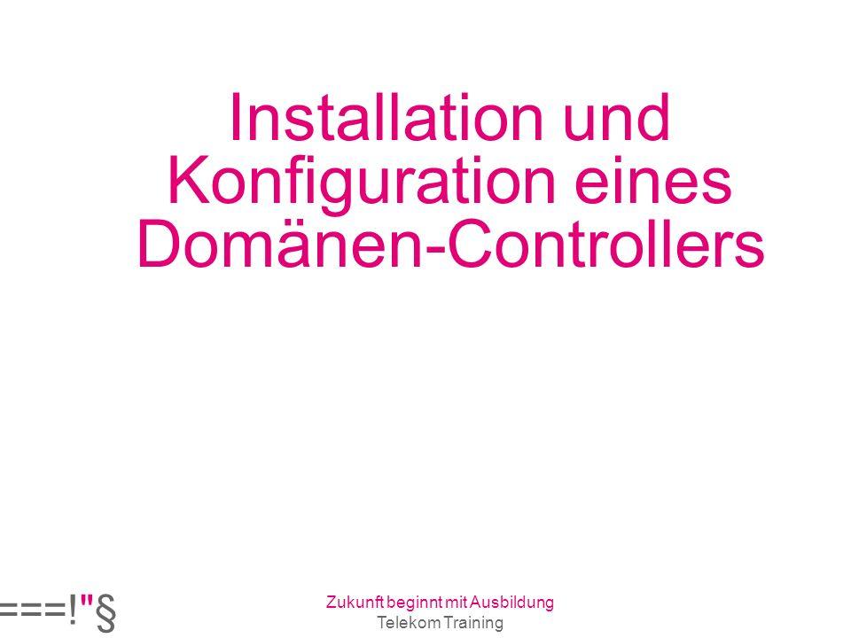 Installation und Konfiguration eines Domänen-Controllers