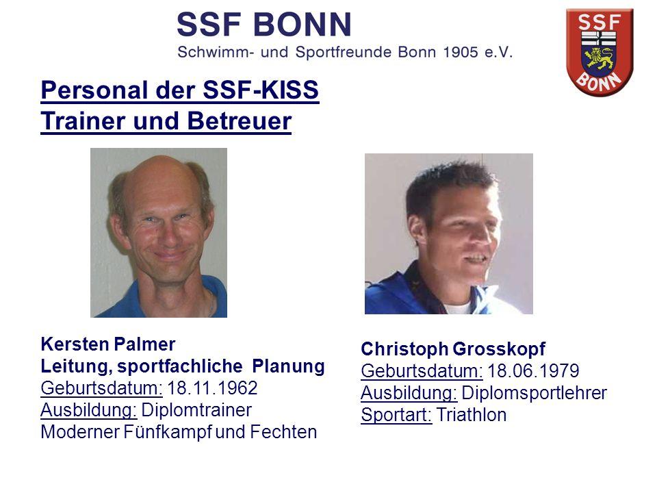 Personal der SSF-KISS Trainer und Betreuer Kersten Palmer