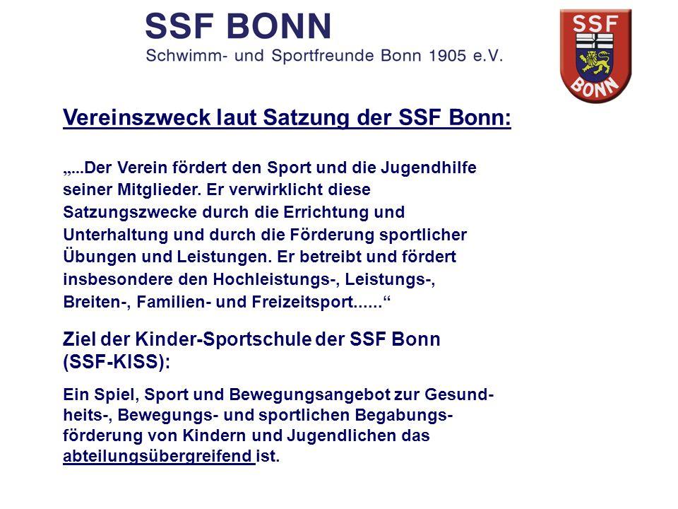 Vereinszweck laut Satzung der SSF Bonn: