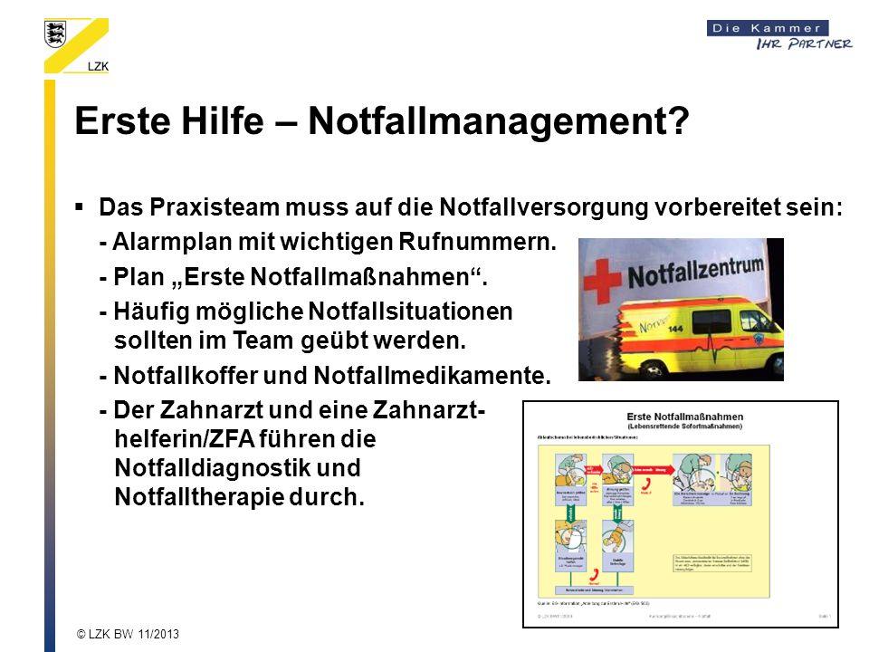 Erste Hilfe – Notfallmanagement