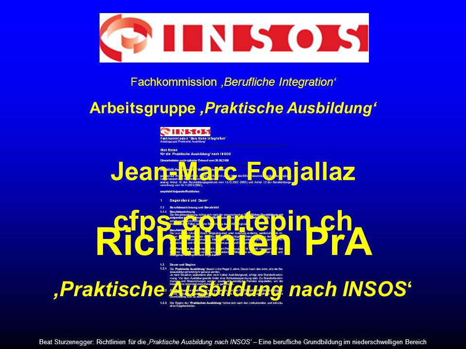 Richtlinien PrA cfps-courtepin.ch Jean-Marc Fonjallaz