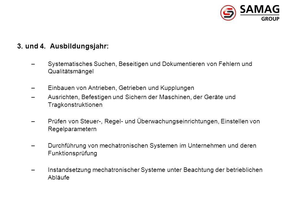 3. und 4. Ausbildungsjahr: Systematisches Suchen, Beseitigen und Dokumentieren von Fehlern und Qualitätsmängel.