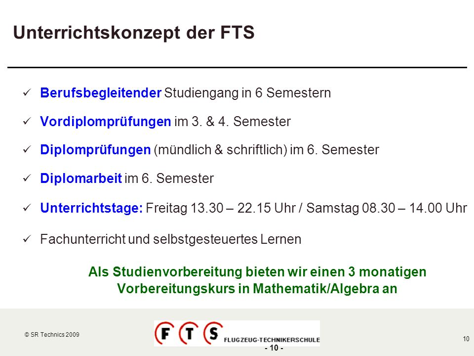 Unterrichtskonzept der FTS