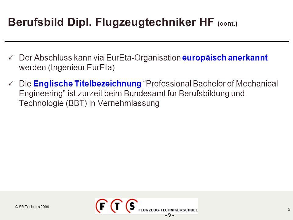 Berufsbild Dipl. Flugzeugtechniker HF (cont.)