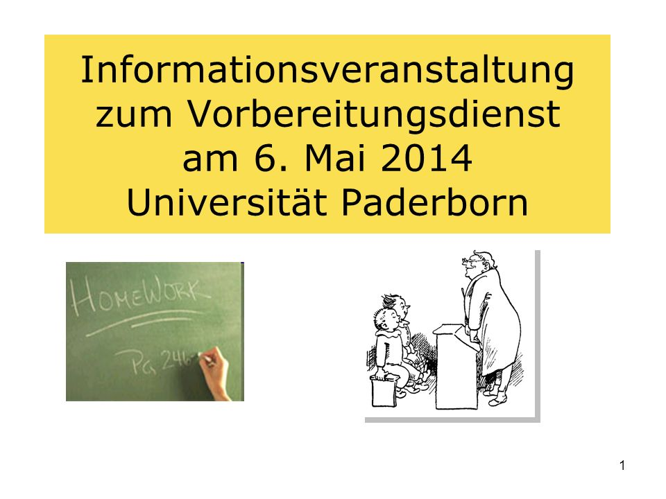 Informationsveranstaltung zum Vorbereitungsdienst am 6