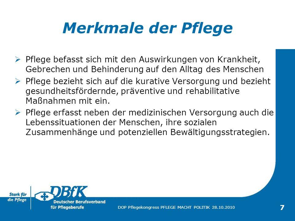 Eine Präsentation des Deutschen Berufsverbandes für Pflegeberufe