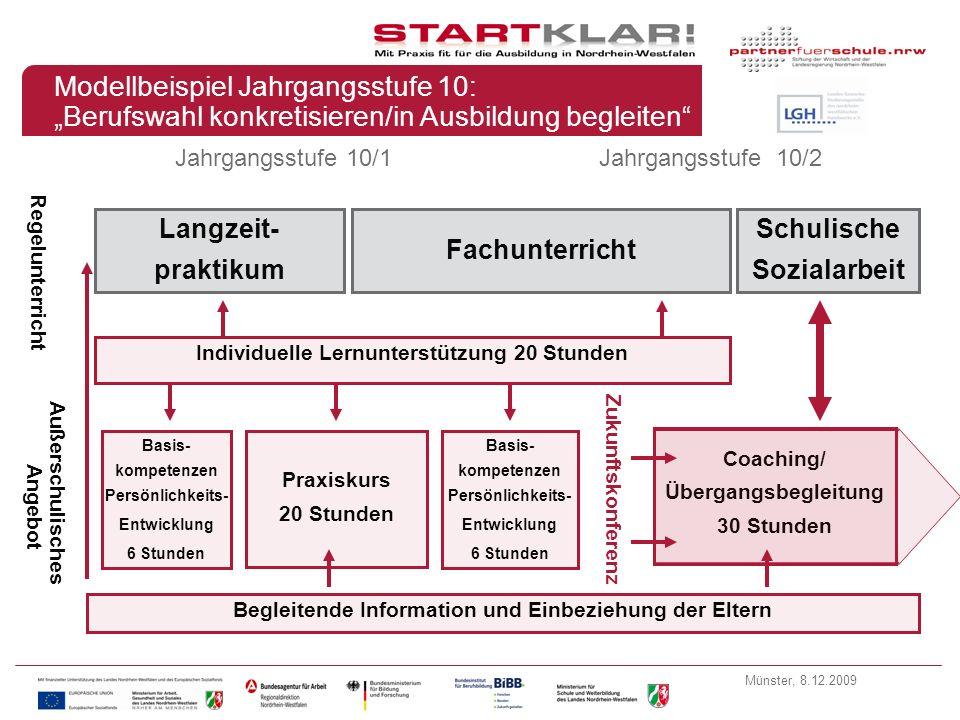 """Modellbeispiel Jahrgangsstufe 10: """"Berufswahl konkretisieren/in Ausbildung begleiten"""