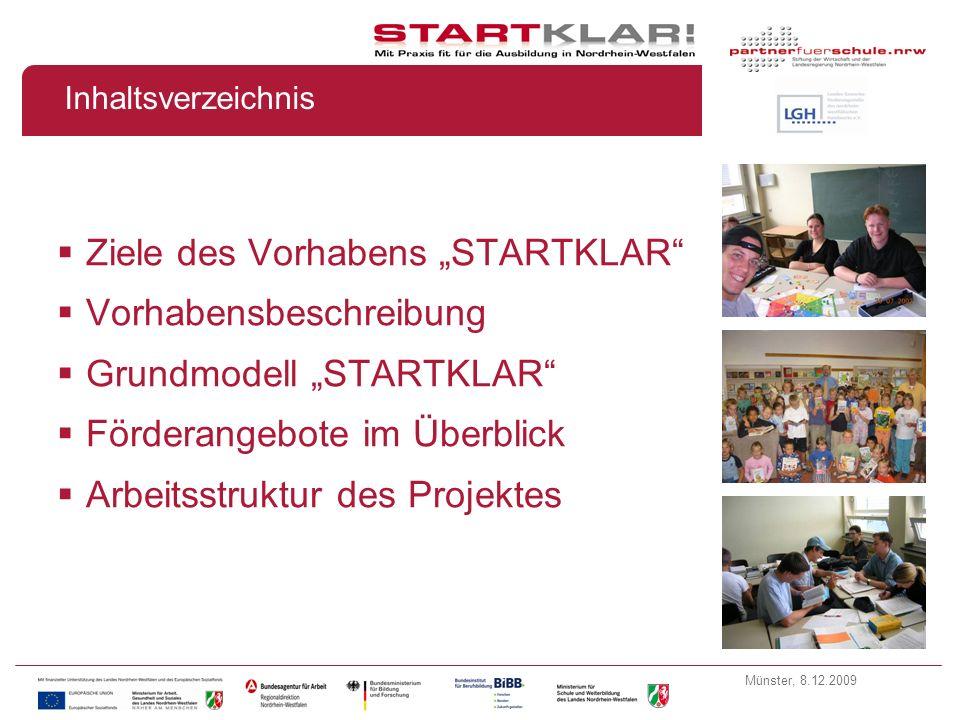 """Ziele des Vorhabens """"STARTKLAR Vorhabensbeschreibung"""