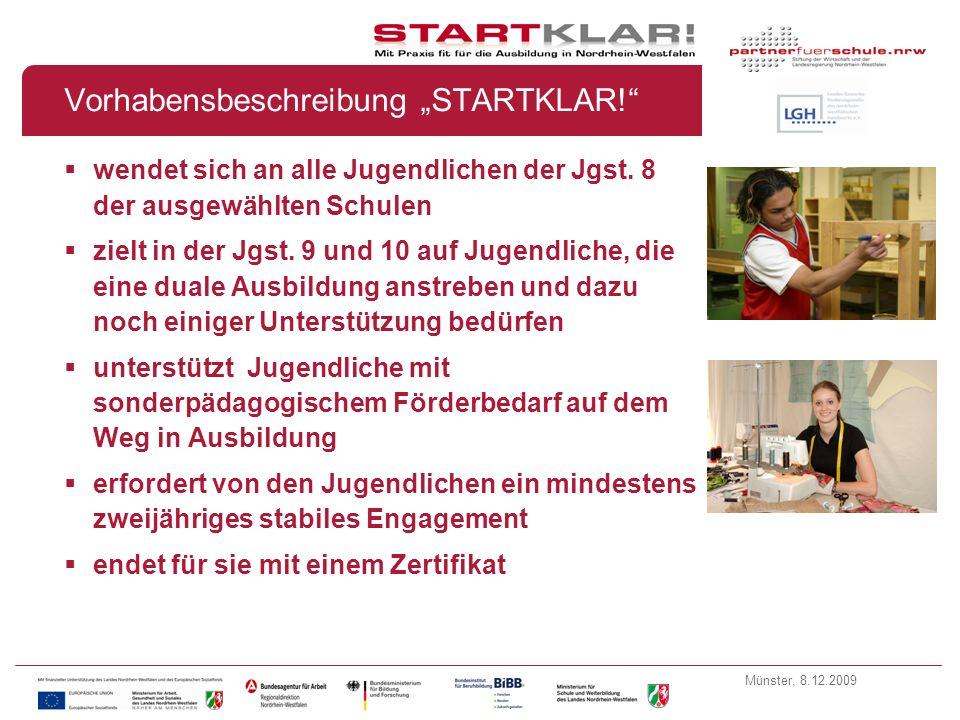 """Vorhabensbeschreibung """"STARTKLAR!"""