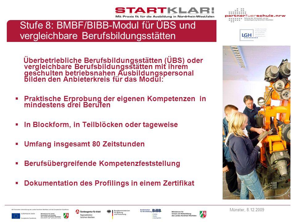 Stufe 8: BMBF/BIBB-Modul für ÜBS und vergleichbare Berufsbildungsstätten