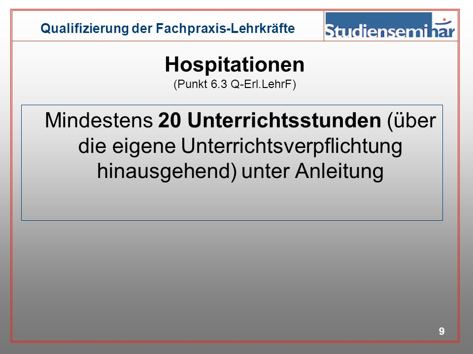 Hospitationen (Punkt 6.3 Q-Erl.LehrF)