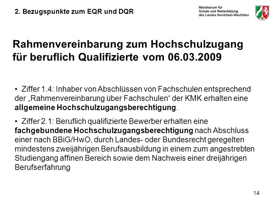2. Bezugspunkte zum EQR und DQR