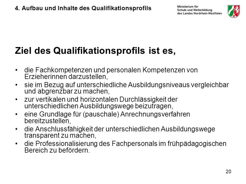 4. Aufbau und Inhalte des Qualifikationsprofils