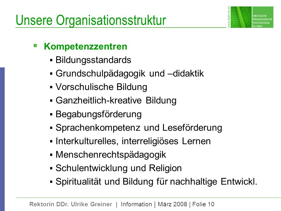 Unsere Organisationsstruktur