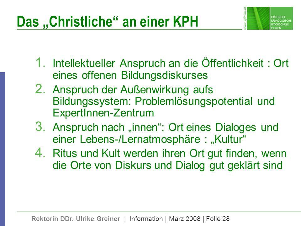 """Das """"Christliche an einer KPH"""