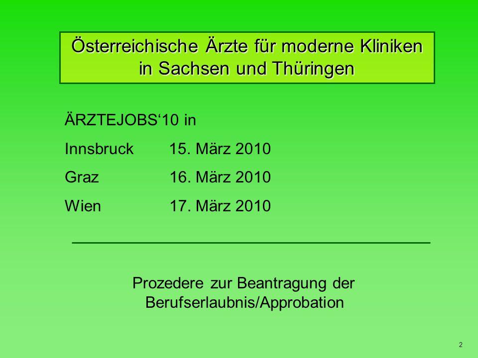 Österreichische Ärzte für moderne Kliniken in Sachsen und Thüringen