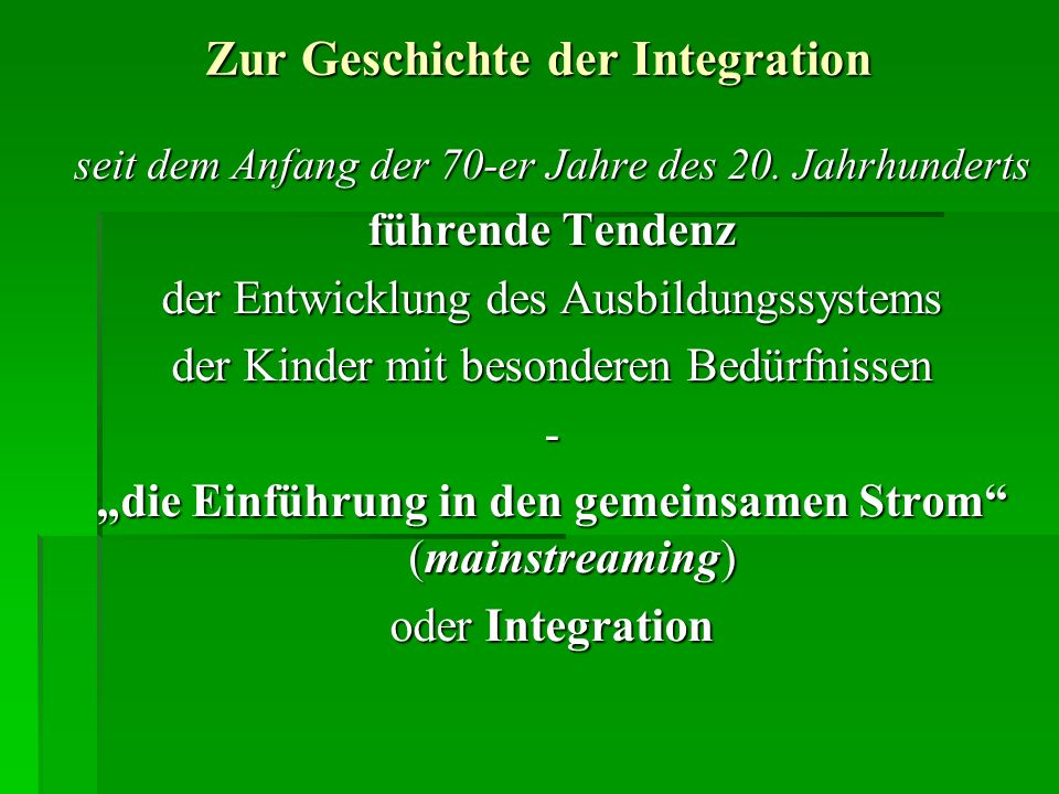 Zur Geschichte der Integration