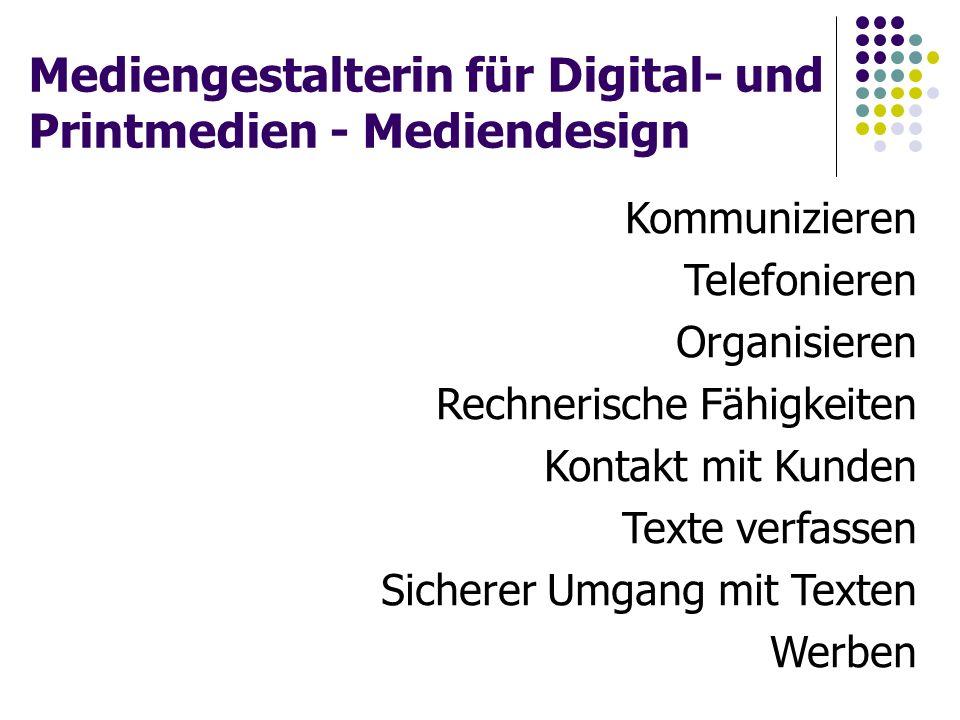 Mediengestalterin für Digital- und Printmedien - Mediendesign
