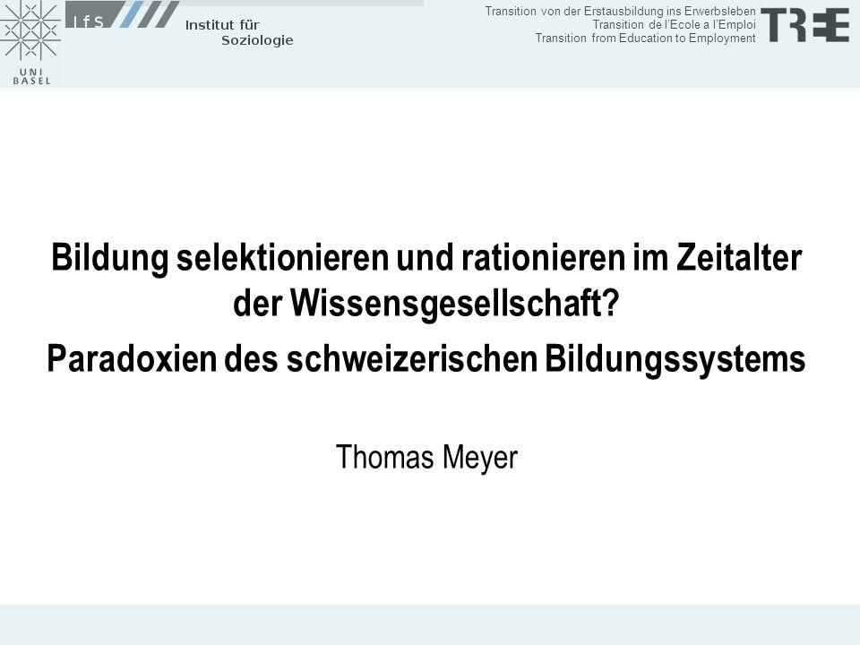 Paradoxien des schweizerischen Bildungssystems