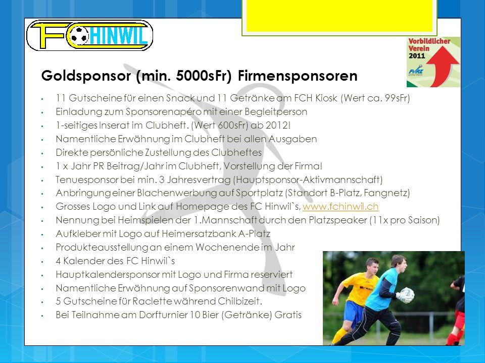 Goldsponsor (min. 5000sFr) Firmensponsoren