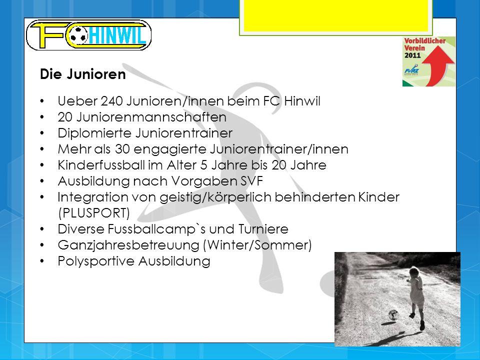 Die Junioren Ueber 240 Junioren/innen beim FC Hinwil