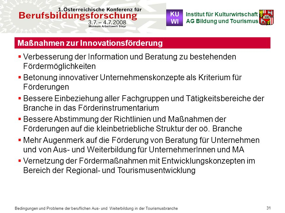 Maßnahmen zur Innovationsförderung
