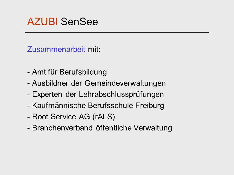 AZUBI SenSee Zusammenarbeit mit: Amt für Berufsbildung