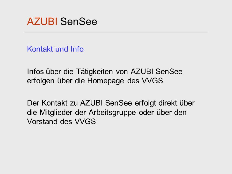 AZUBI SenSee Kontakt und Info