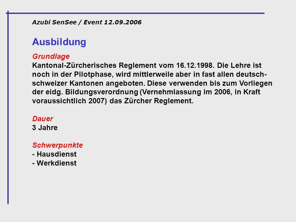 Azubi SenSee / Event 12.09.2006 Ausbildung.