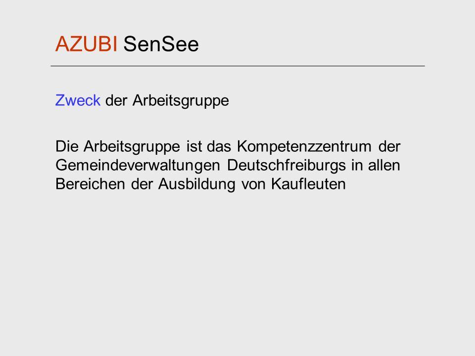AZUBI SenSee Zweck der Arbeitsgruppe