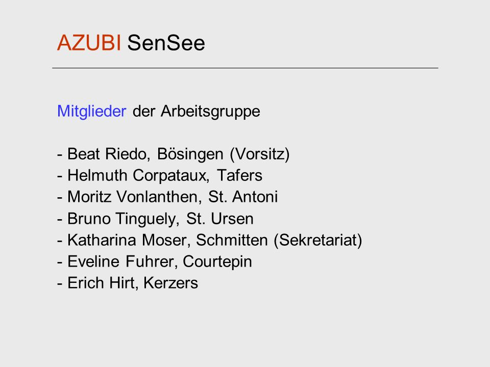 AZUBI SenSee Mitglieder der Arbeitsgruppe