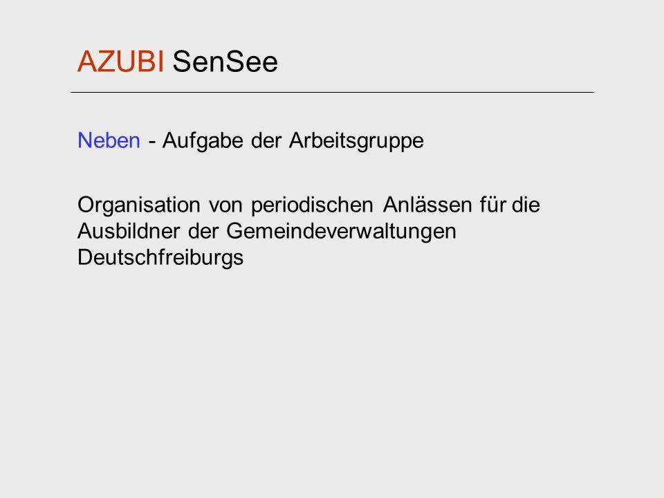 AZUBI SenSee Neben - Aufgabe der Arbeitsgruppe