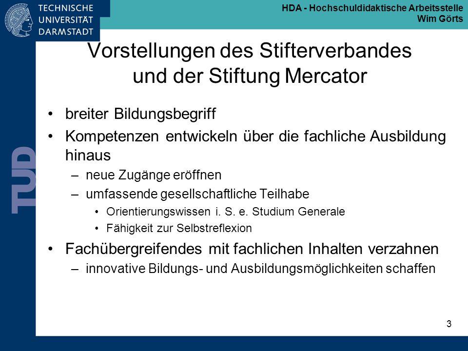 Vorstellungen des Stifterverbandes und der Stiftung Mercator