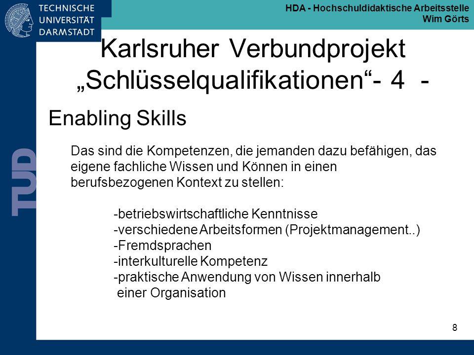 """Karlsruher Verbundprojekt """"Schlüsselqualifikationen - 4 -"""