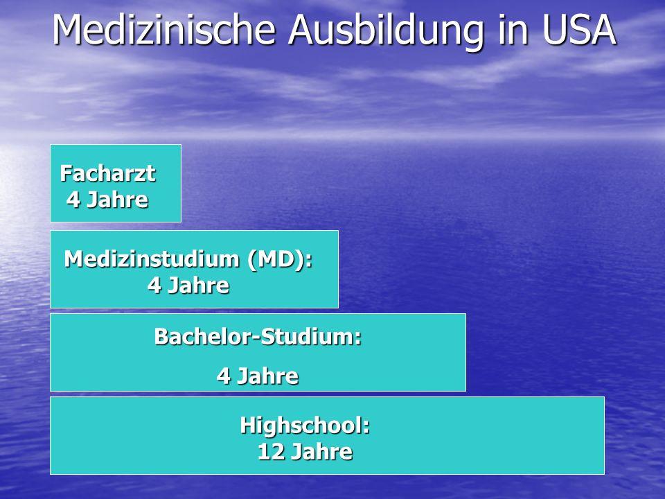 Medizinische Ausbildung in USA