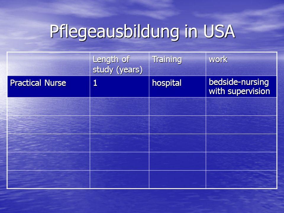 Pflegeausbildung in USA