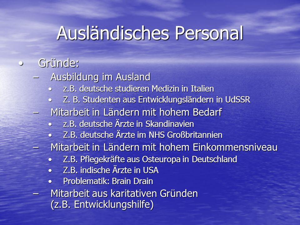 Ausländisches Personal