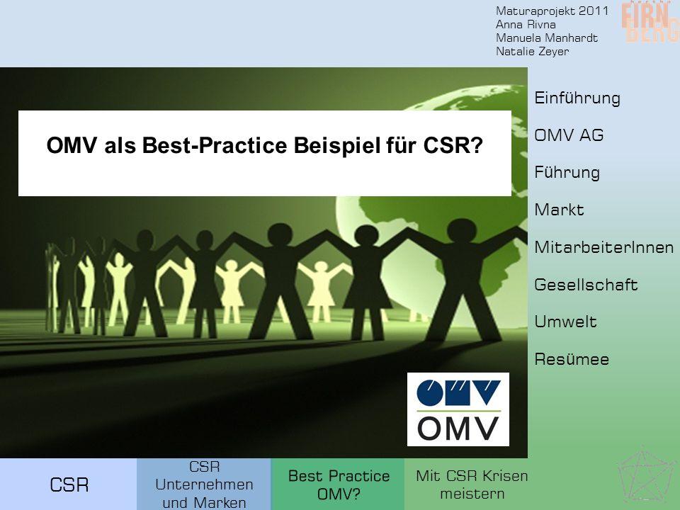OMV als Best-Practice Beispiel für CSR