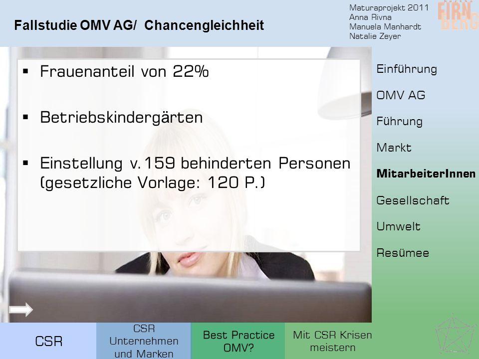 Fallstudie OMV AG/ Chancengleichheit