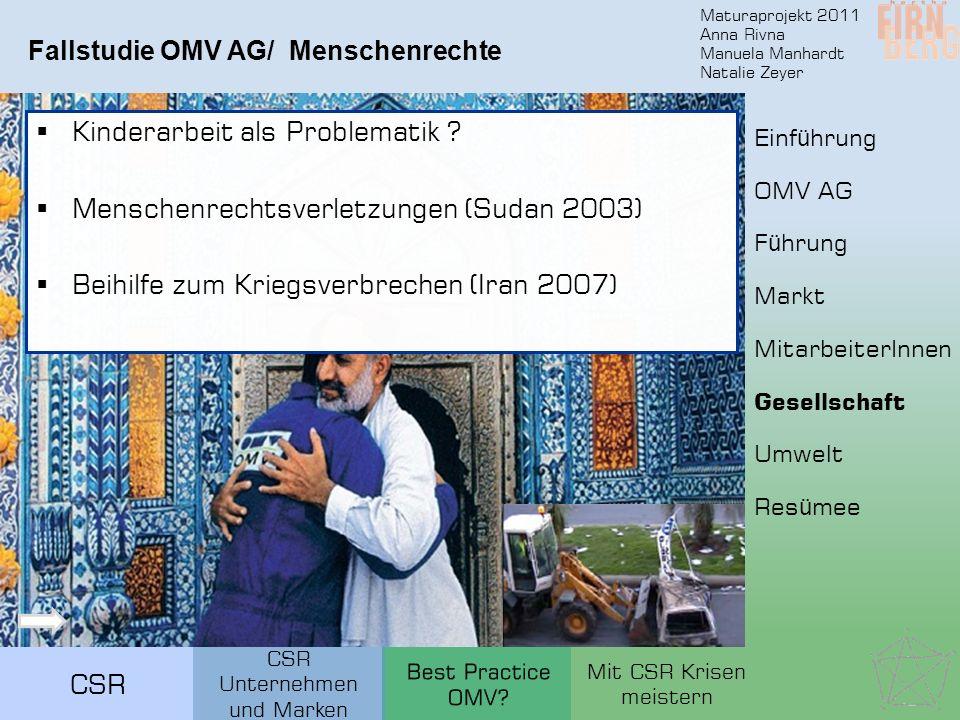 Fallstudie OMV AG/ Menschenrechte