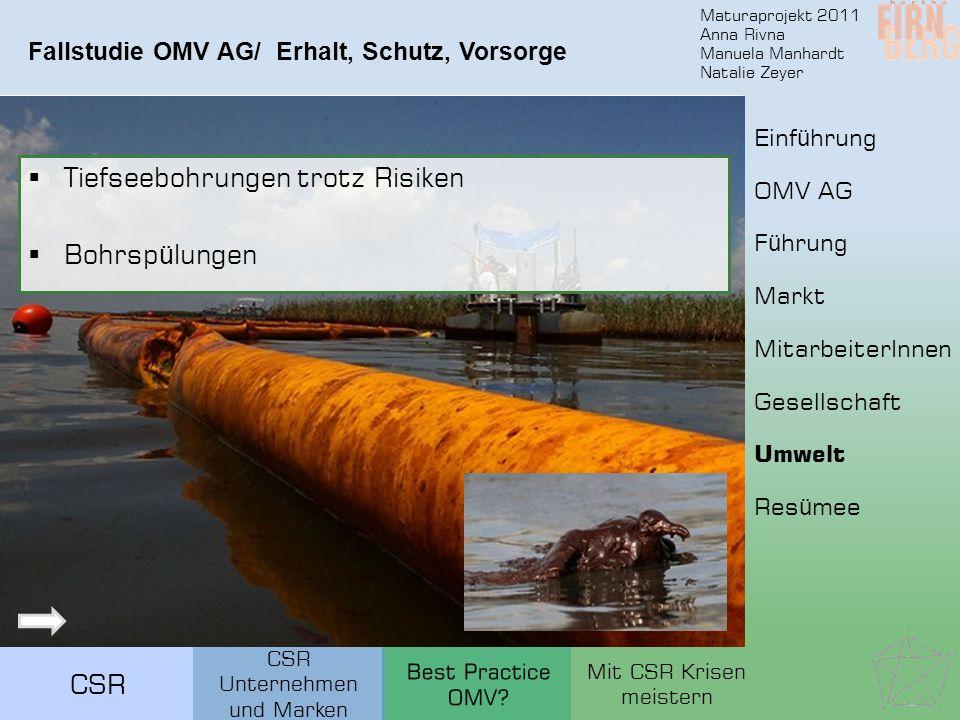 Fallstudie OMV AG/ Erhalt, Schutz, Vorsorge