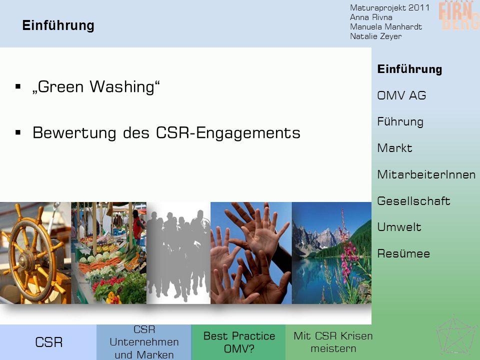 Bewertung des CSR-Engagements